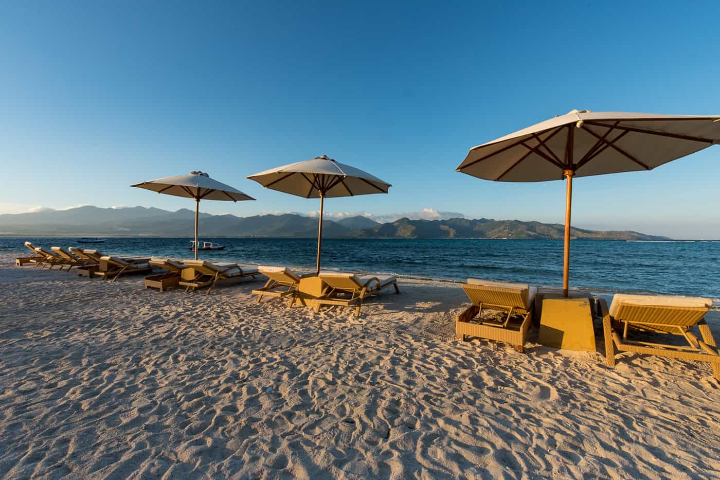 Entrance view at Hotel Ombak Sunset in the Gili Islands of Lombok Indonesia
